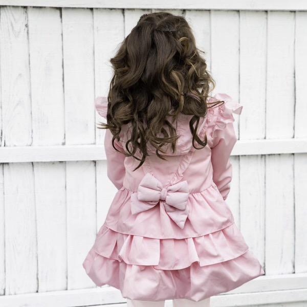 Caramelo Ruffle Coat, Pink