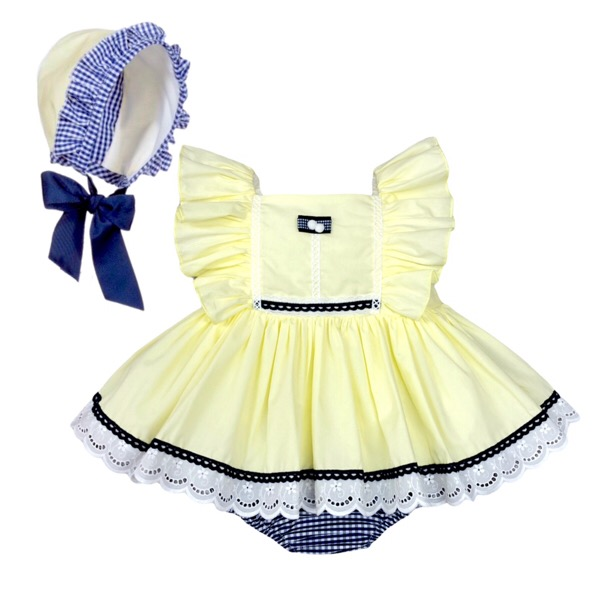 Abuela Tata Lemon Baby Dress Set