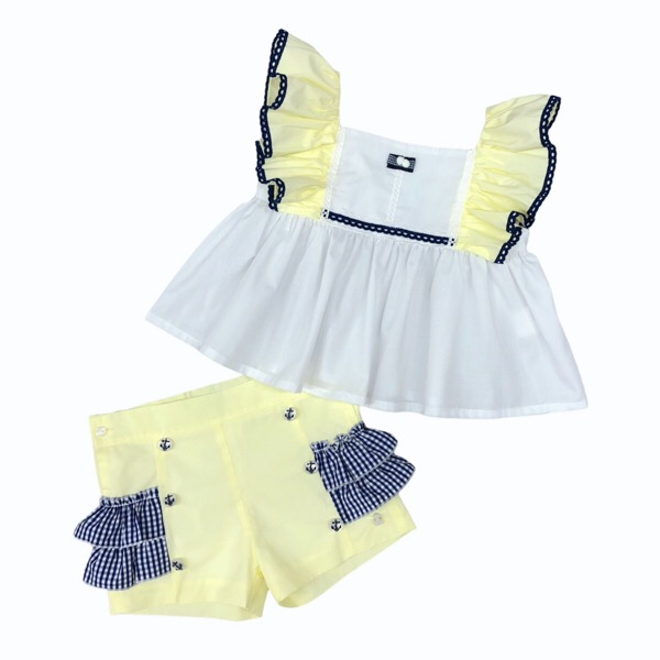 Abuela Tata Lemon Short Set