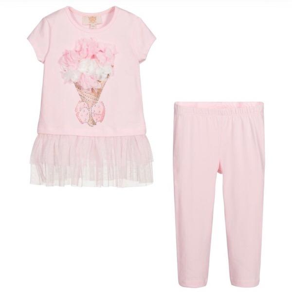 Caramelo Bouquet Legging Set, Pink
