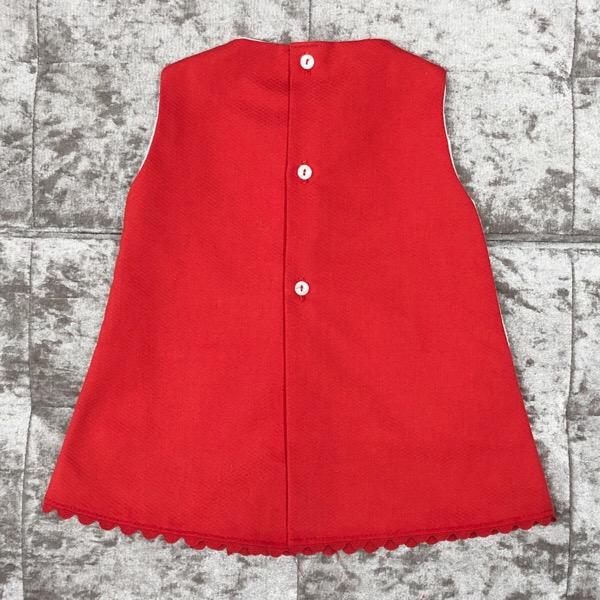Eva Red A-Line Girls Dress
