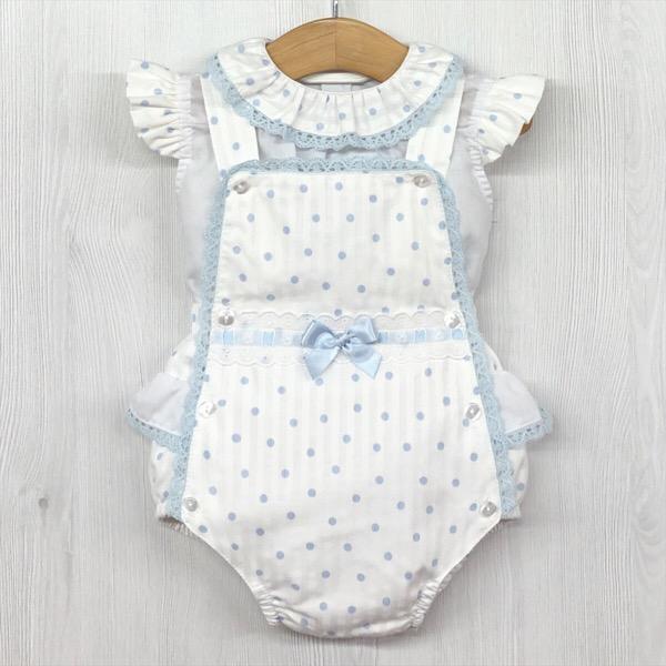 Babylis Dotty Romper Set, Blue