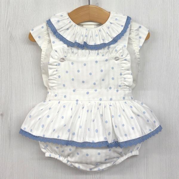 Babylis Dotty Pinafore Set, Blue
