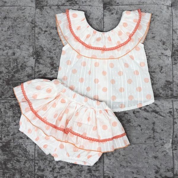 Babylis Polka Dot Skirt Set, Coral