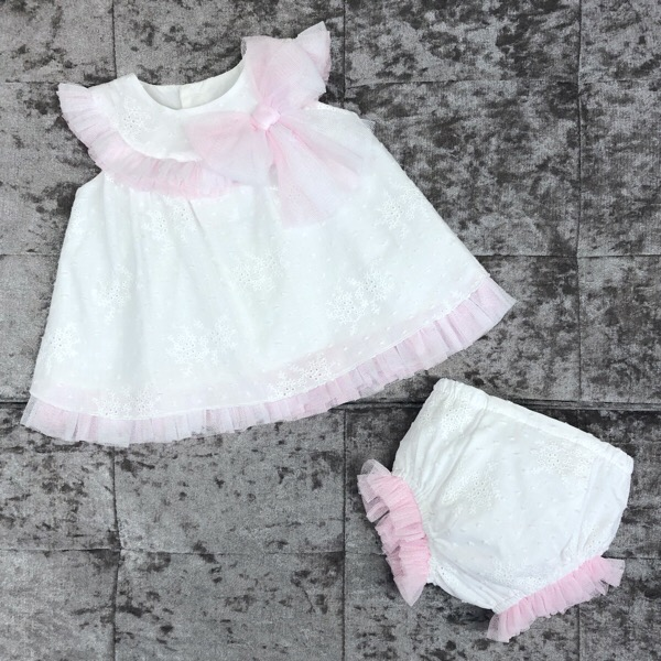 Rahigo Tulle Dress Set, Pink