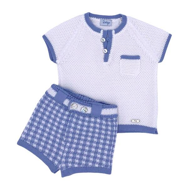 Rahigo Boys Check Short Set, Blue