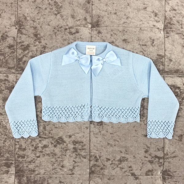 Babylis Bow Cardigan, Blue