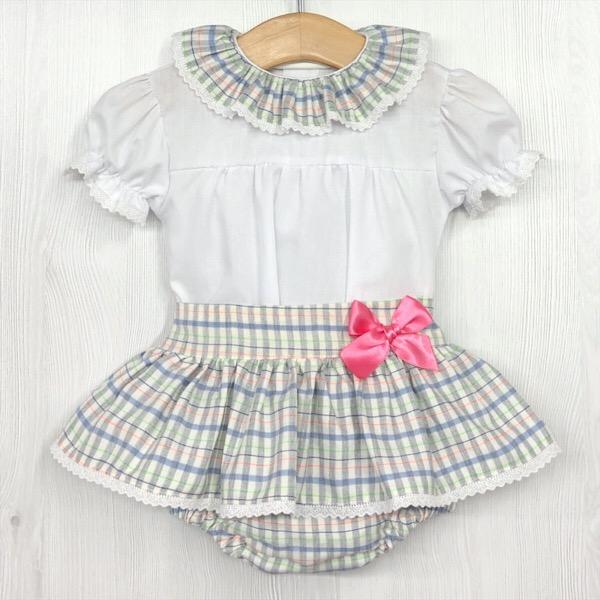 Babylis Check Skirt Set