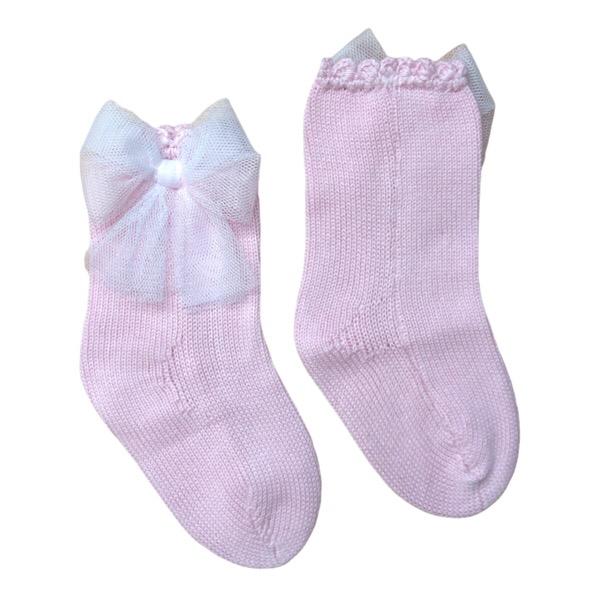 Rahigo Pink Tulle Ankle Socks