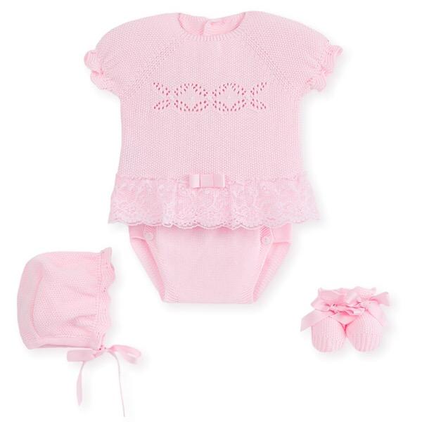 Mac Ilusión Pink Lace Knit Set