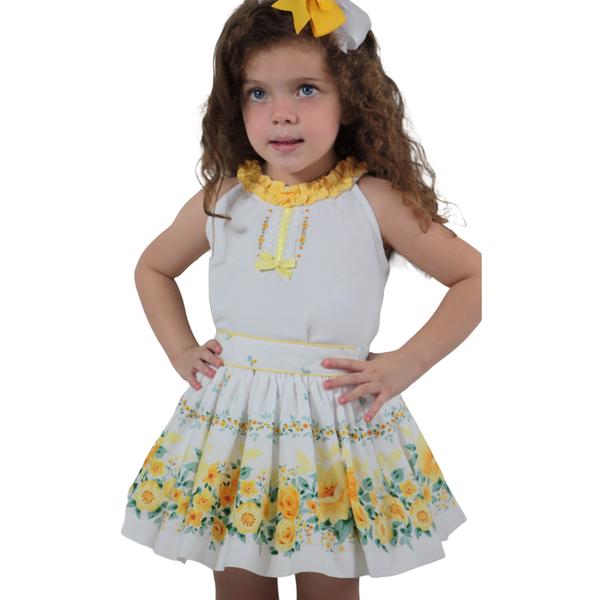 Pretty Originals Yellow Floral Skirt Set