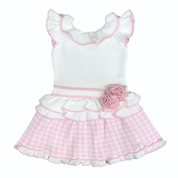 Rahigo Check Dress, Pink