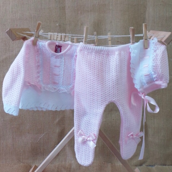 Nini Pink & White Knit Set