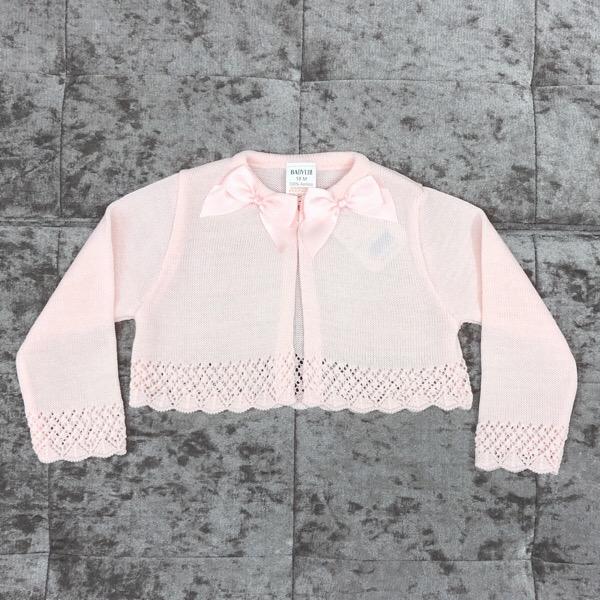 Babylis Bow Cardigan, Pink