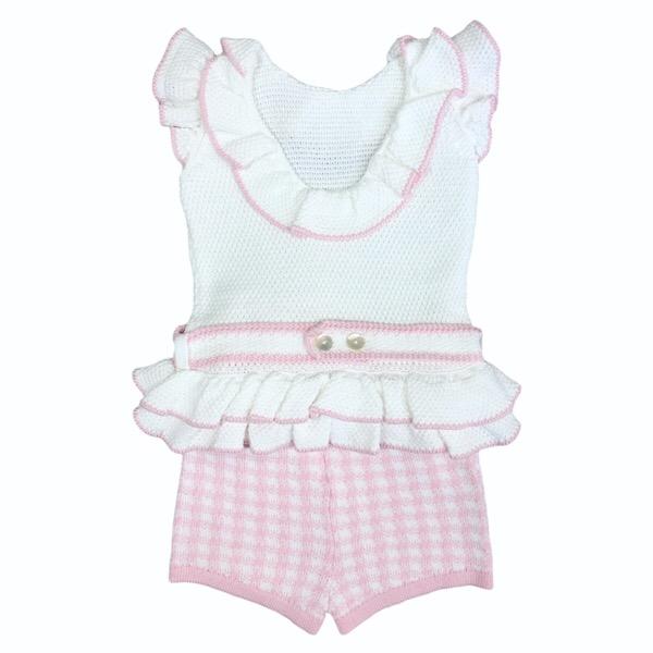 Rahigo Check Short Set, Pink