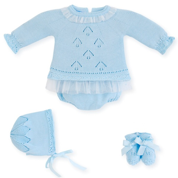 Mac Ilusión Blue Tulle Knit Set