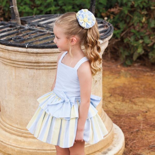 Dbb Blue & Lemon Dropwaist Dress