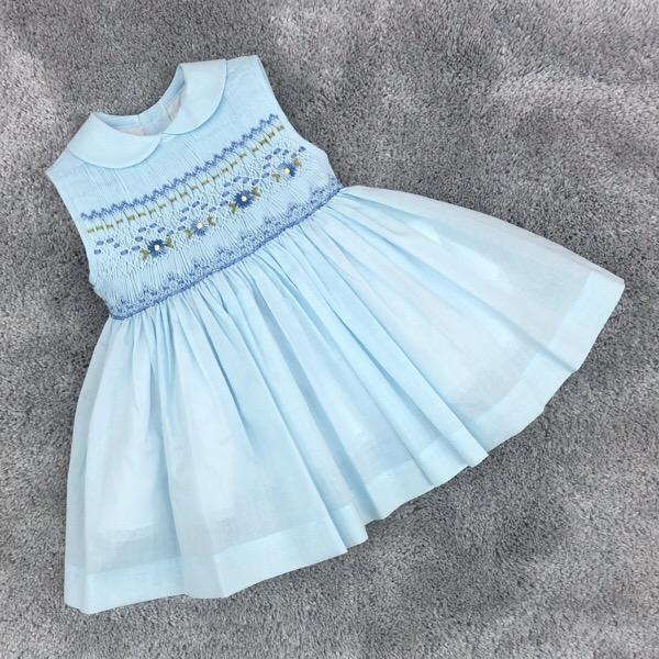Dulce Dudu Blue Smocked Dress