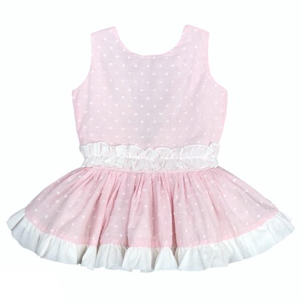 Dbb Pink & White Dropwaist Dress