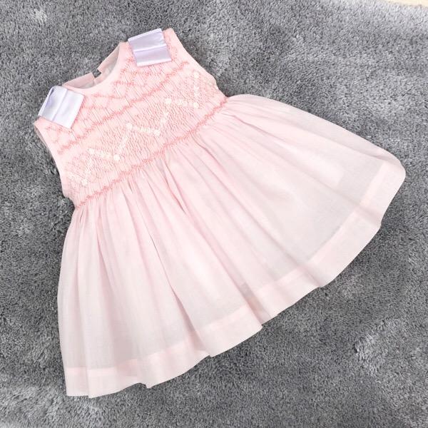 Dulce Dudu Pink Smocked Dress