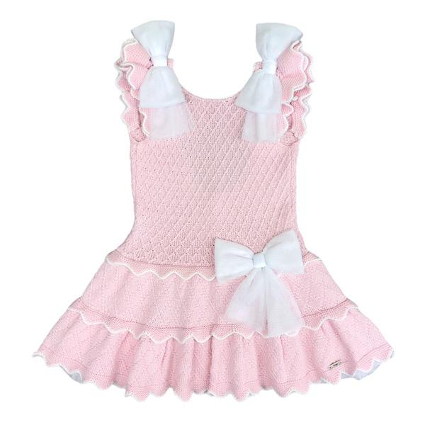 Rahigo Pink & White Tulle Dress