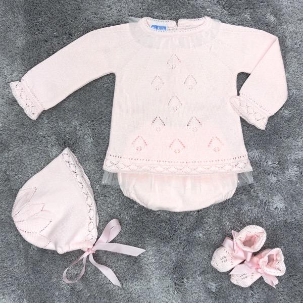 Mac Ilusión Pink Tulle Knit Set