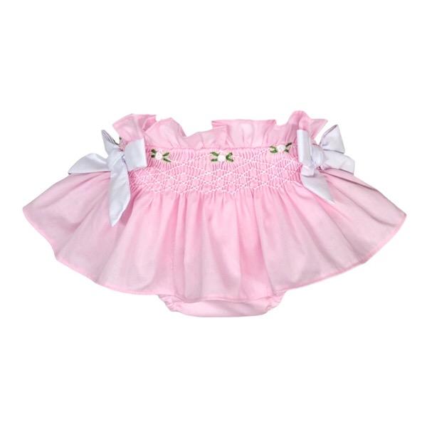 Caramelo Pink Smocked Jam Pants & Bonnet Set