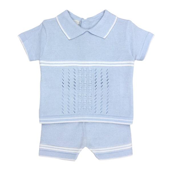 Pretty Originals Blue Knit Set