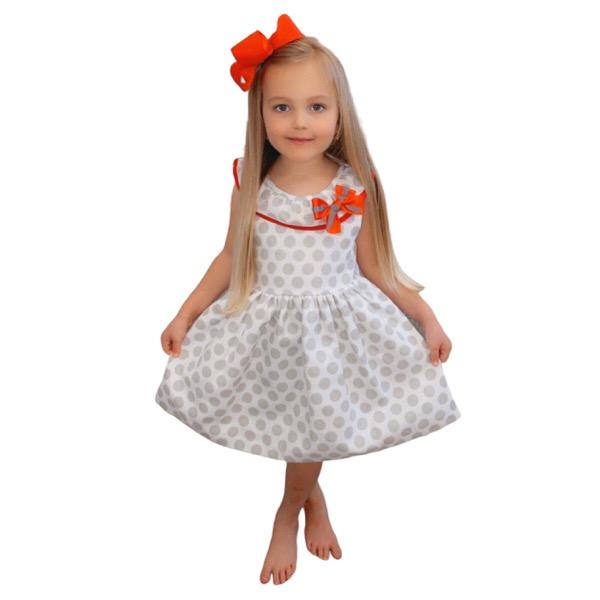 Cuka Polka Dot Girls Dress