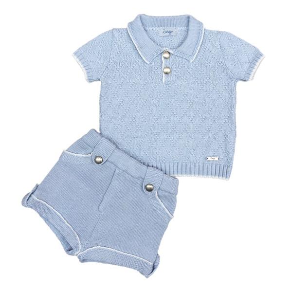 Rahigo Blue & White Short Set