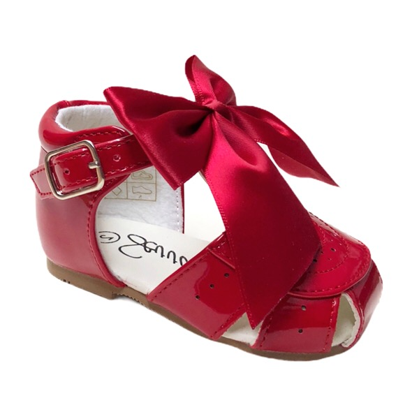 Sevva Bow Sandals, Red