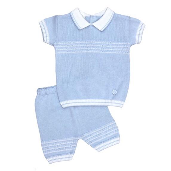 Pretty Originals Blue Stripe Knit Set