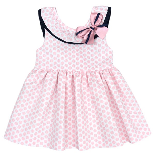 Cuka Pink Polka Dot Girls Dress