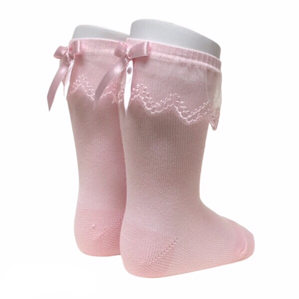 Meia Pata Tulle Frill Socks, Pink