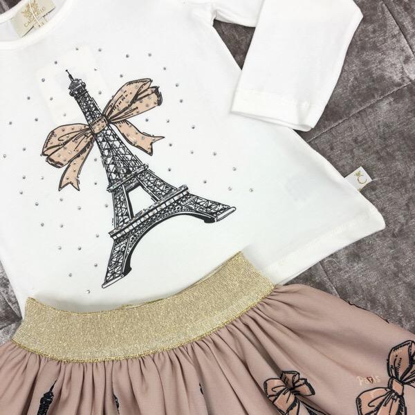 Caramelo Paris Skirt Set, Mink