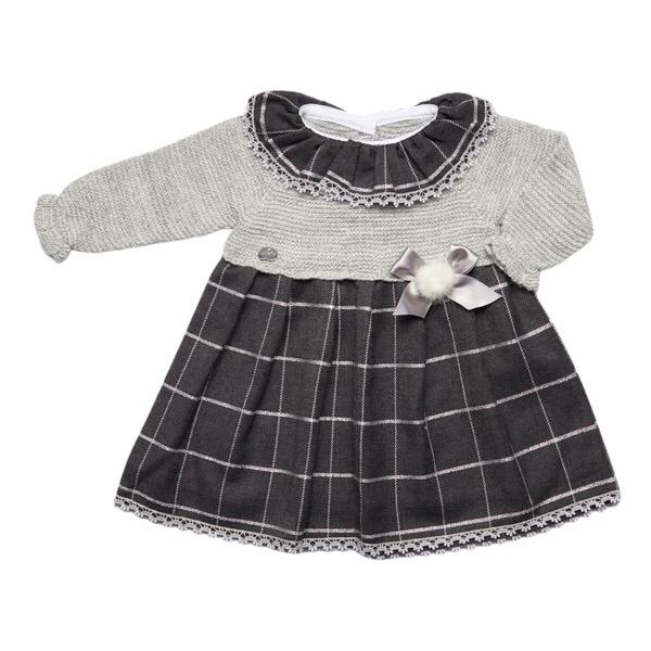 Juliana Grey Check Knitted Dress