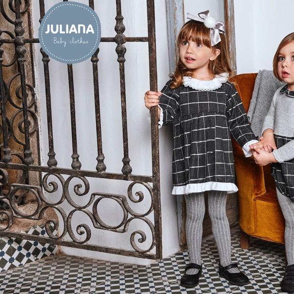 Juliana Grey Check Dress
