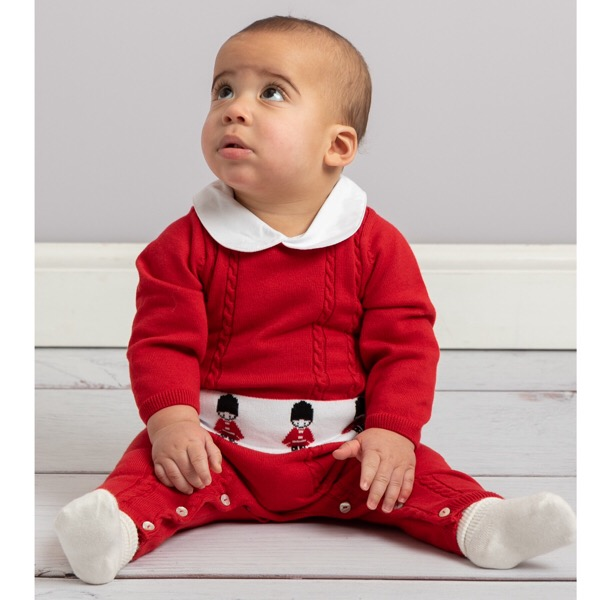 Caramelo Red Soldier Romper