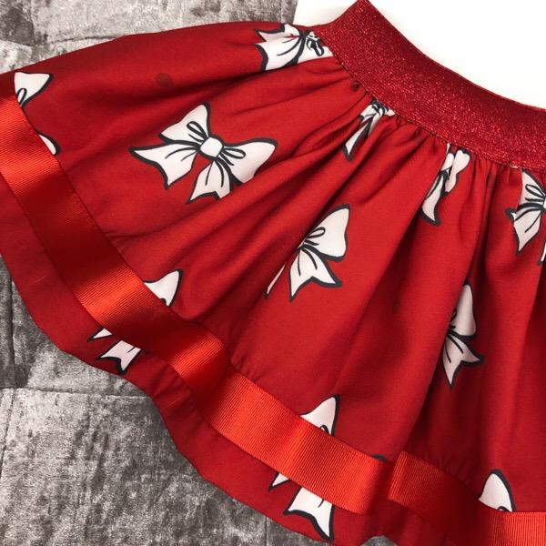 Caramelo Girl In Paris Skirt Set, Red