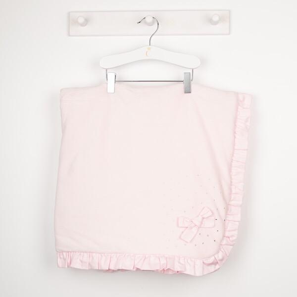 Caramelo Pink Velour Padded Blanket