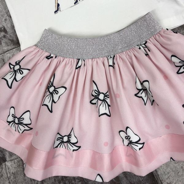 Caramelo Girl In Paris Skirt Set, Pink
