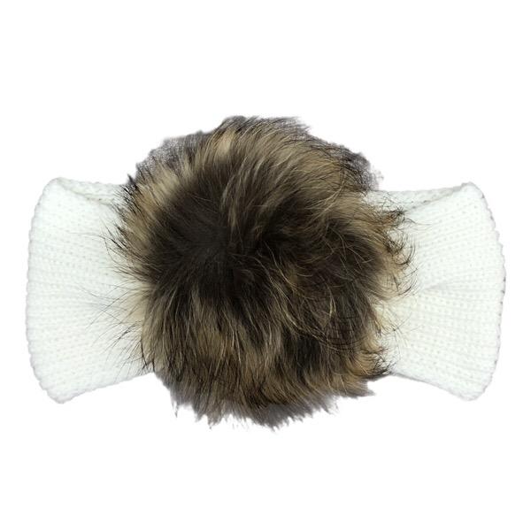 Juliana Cream Fur Headband