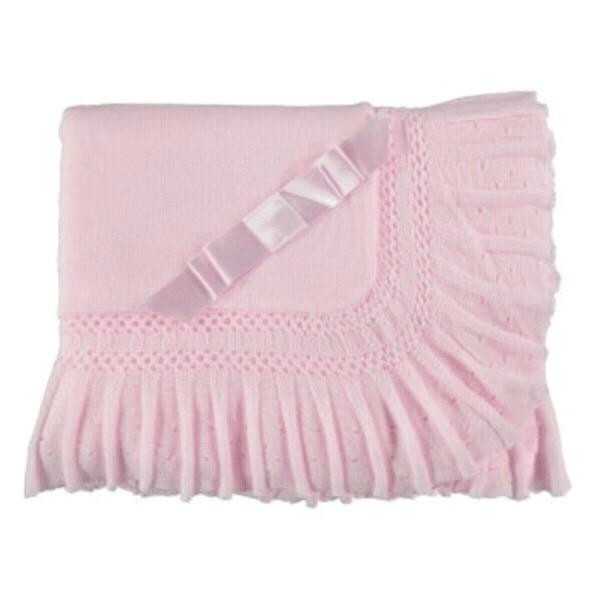 Juliana Pleated Bow Shawl, Pink