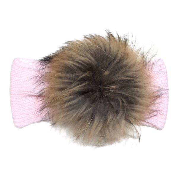 Juliana Pale Pink Fur Headband